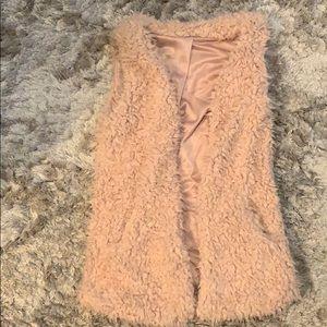 Jackets & Blazers - Fuzzy pink vest
